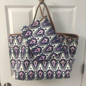Stella & Dot Reversible Tote & Makeup Bag